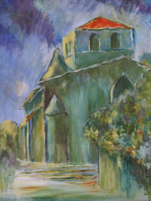 """""""L'église de St Gelais"""" - Jocelyne GENTY (Venise Verte Poitou-Charente)"""