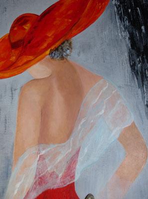 """""""Femme au chapeau"""" - Ginette CAZAL (ARTISA Bourgogne)"""
