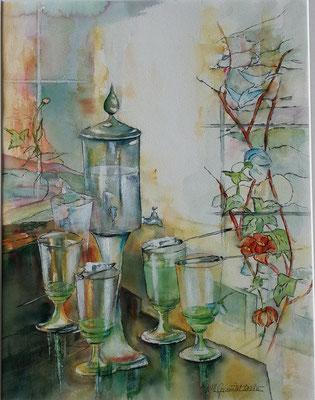 """""""Absinthe et art nouveau"""" - Marguerite SOCIE GIRARDET (ARTISA Bourgogne)"""