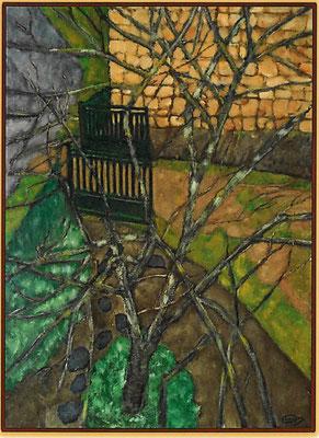 """Le pêcher en hiver"" - Robert BAUDIN (Venise Verte Poitou-Charente)"