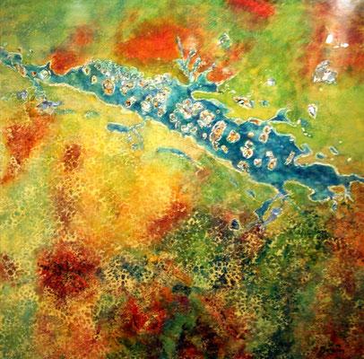 """Rivière nacrée"" - Yolande MICHELON (ARTISA Bourgogne)"