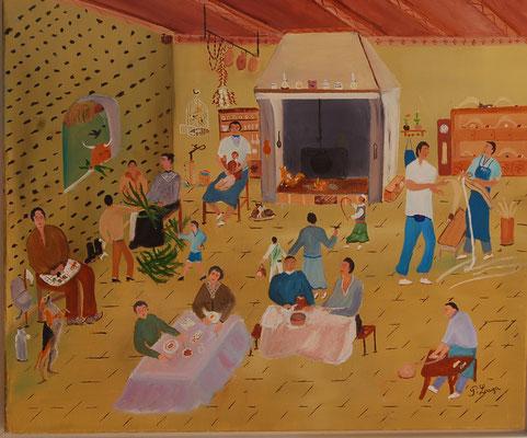 """""""Scène basque"""" - Patrick LAUGA (Soc. Art. Aquitaine)"""