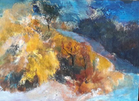 """Paysage"" - Evelyne WINTERHALTER  (Soc. Art. Champagne Ardennes)"