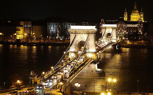 Ungarn Hungary Budapest  Kettenbrücke