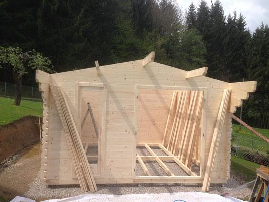 Gartenhaus BPP 6 - 2 28 mm (378 x 378 cm)