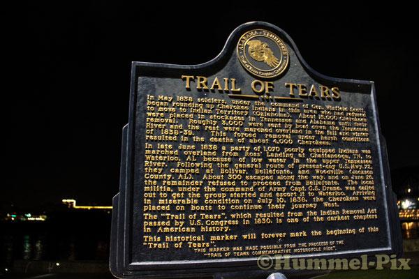 Informationstafel zum Trail of Tears