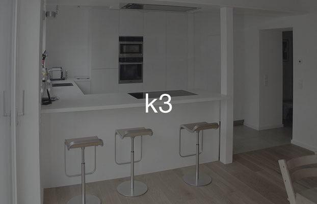 Küche k3: mit Frühstückstheke