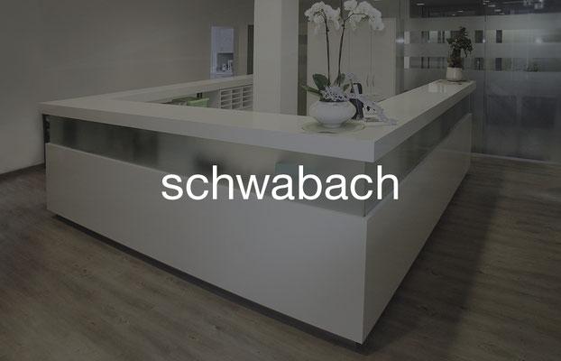 Möblierung einer Praxis in Schwabach in Franken