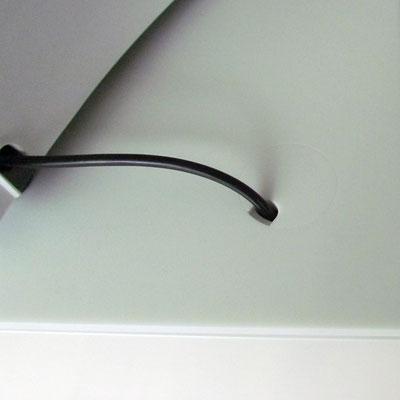 Detail Kabelauslass für Küchengeräte