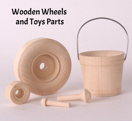 Wooden Wheels & Toy Parts