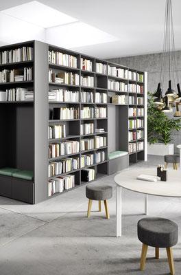 Soggiorno Living - Cinquanta3 Libreria a ponte