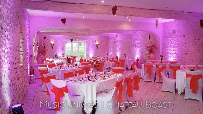 Chateau de Boast / Décoration Lumineuse de salle Rose