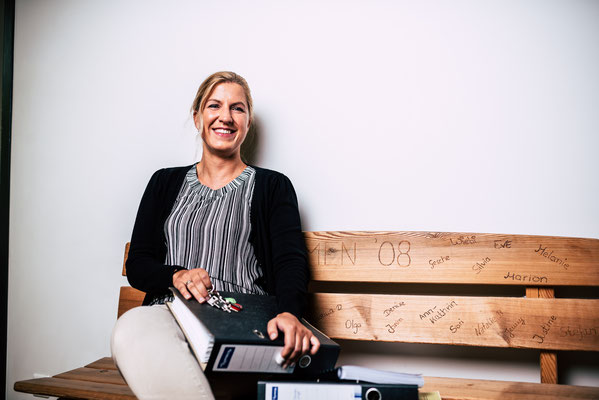 Eva Meier die meisterhaft unser Sekretariat führt