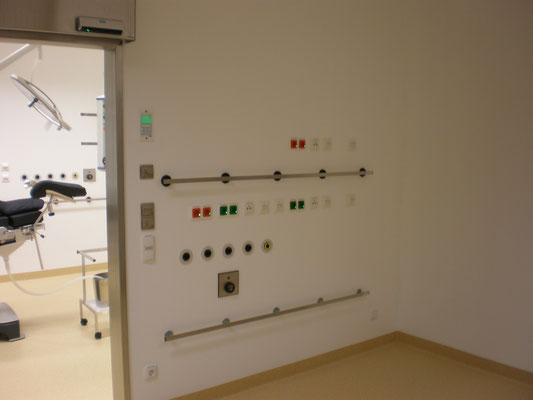Frank Hörmann Projekt: Städt. Krankenhaus Kiel, Strahlenschutzwand inkl. Installation med. Gase