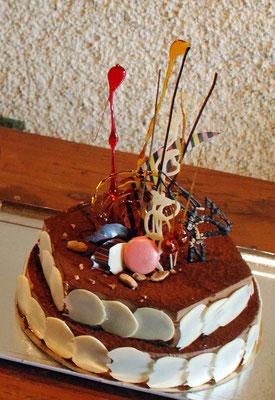 Tiramisu au chocolat (en gâteau)