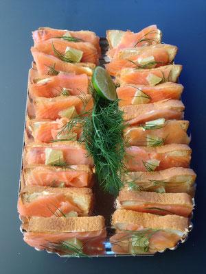 Canapés saumon