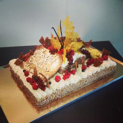 Gâteau Caramel et mangue