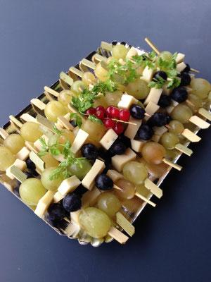 Brochettes Raisin et Fromage