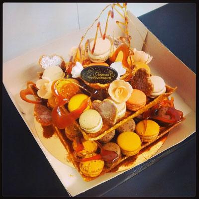 Panière Macarons