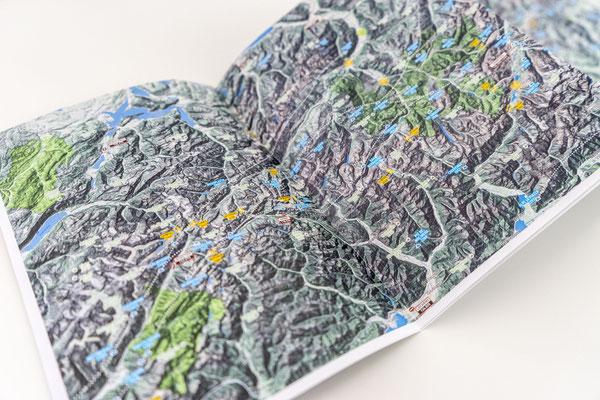 Der neue Bereich der Karten bis zum Aletschgletscher