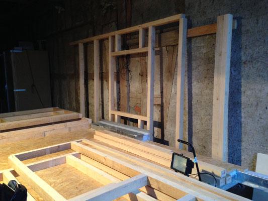 Tiny House Bauen alles vorbereitet fürs wände aufstellen tiny house projekt schweiz