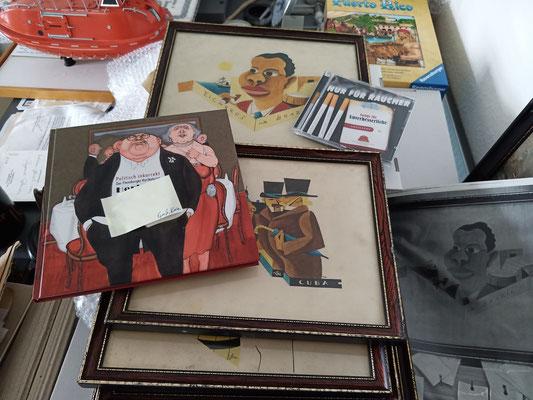 August 2020 – Tabakgrafiken im Flensburger Schifffahrtsmuseum.