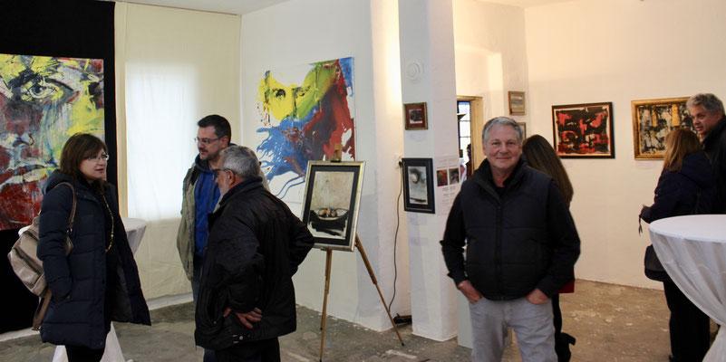 Ausstellungseröffnung 2017 mit Bildern von Plamen Enev und mir