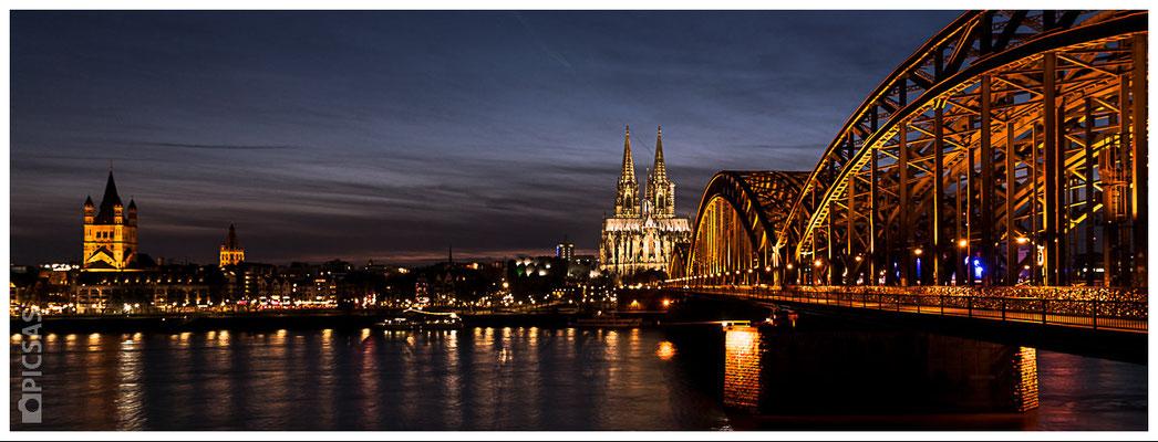 Köln - Skyline Rheinufer