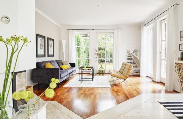 Interiorfotografie eines Wohnzimmers