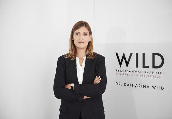 farbiges Porträt einer Frau vor Rechtsanwaltskanzlei