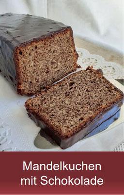 Mandelkuchen mit Schokolade - Rehrücken Kuchen