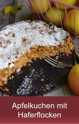 Apfelkuchen mit Haferflocken