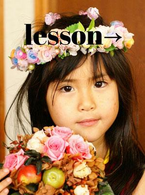 レインボーフラワー 女の子用花冠
