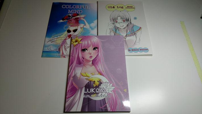 Artbooks von Oldschool-Girl und Lukiya