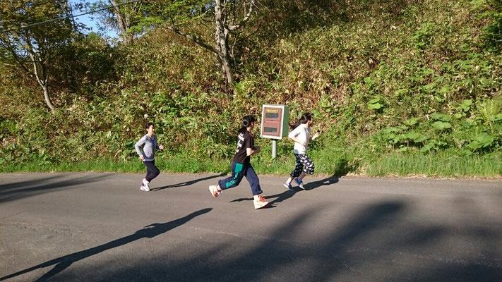 朝のマラソン