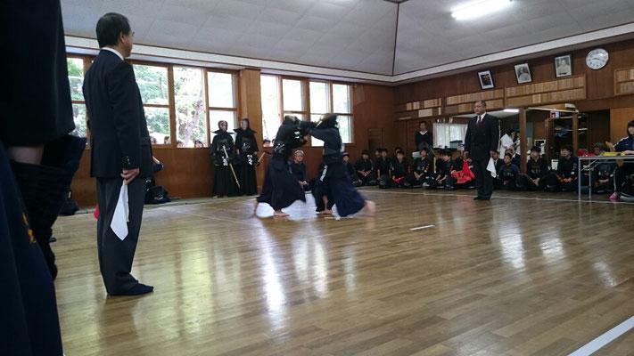 中学生の剣道試合