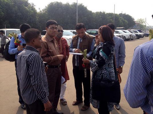 Treffen mit dem Bürgermeister in Mongla
