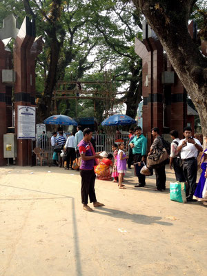 In Benapole, an der Bangladesch - Indien Grenze