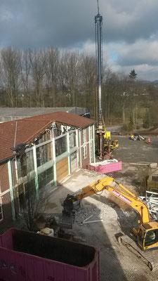 Der Abbruch des Rundbaus aus dem ehemaligen Werkraum. (25.02.2016)