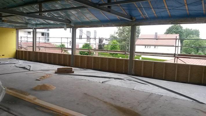 Hier war das Sekretariat -- jetzt wird hier das Lehrerzimmer entstehen. (28.07.2016)