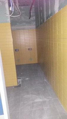 Eine Schülertoilette.
