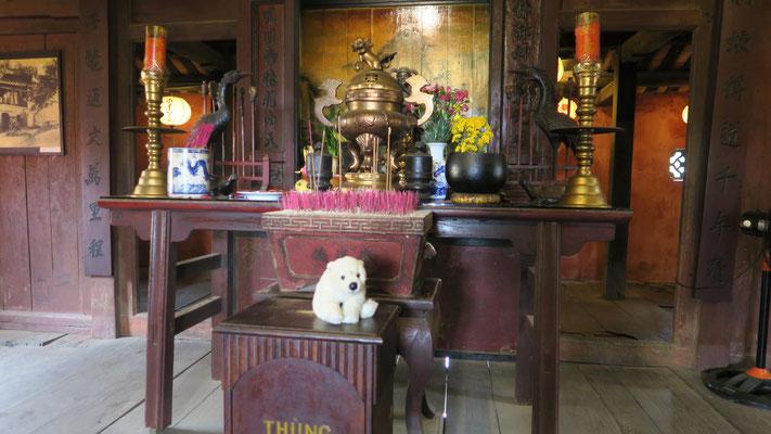 Ole in Vietnam in ältesten Haus von Hoi An