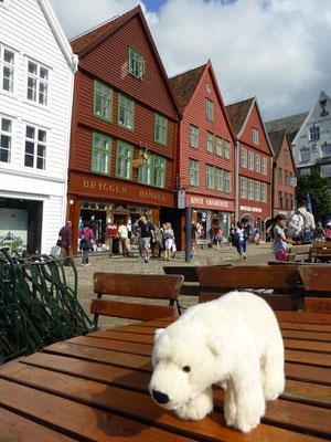 Ole besucht die alte Hansestadt Bergen in Norwegen