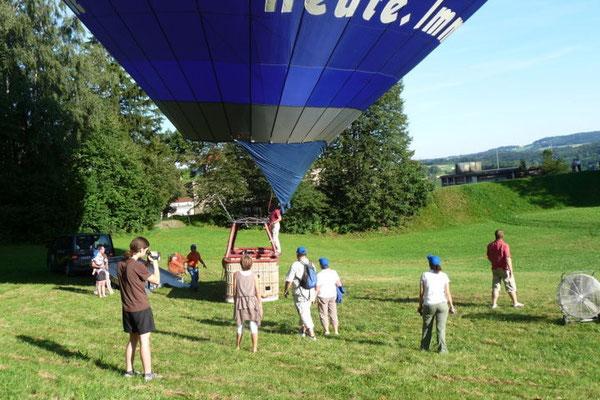35 Meter hoch ist der Ballon! Gigantisch!