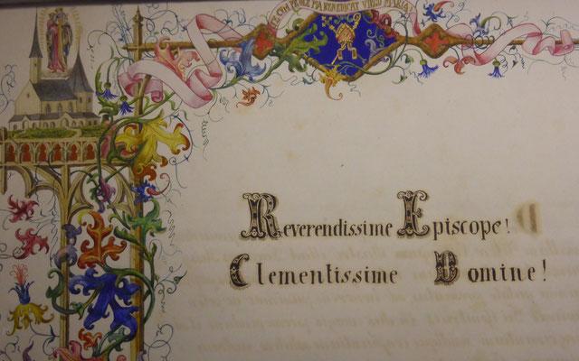 Das Domschatzmuseum mit wertvollen alten Schriften