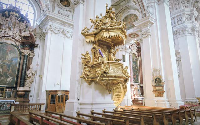 Die vergoldete Kanzel von 1726