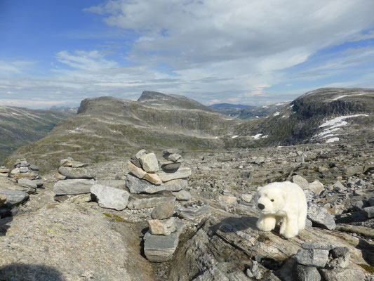 Ole ist in Norwegen auf den Berg Dalsnibba geklettert