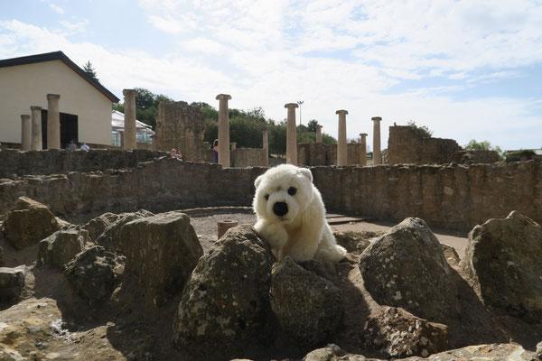Ole auf Sizilien vor der Villa Romana del Castle