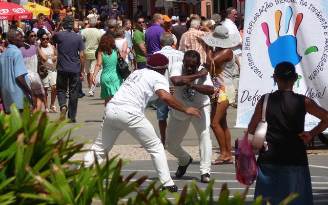 Capoeira wird auch hier getanzt