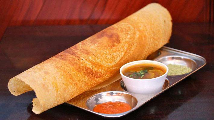 Cucina indiana: masala dosa